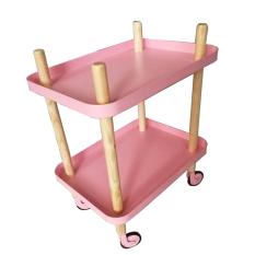 Nuo Man Metal Belt Wheel Side Table Storage Rack Bedside Table Reviews