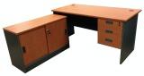 Sale Simply Writing Desk Set 1 5M L Shape Cabinet Set Cherry Singapore Cheap