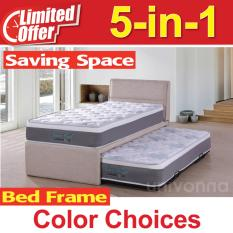 Pull Out Bed 5 in 1 with 9 inch Euro Coil mattress - Bunk Bed - Guest Bed - Fast Delivery