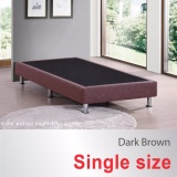 How To Get Single Size Divan Bed Base Fabric Upholstery Dark Brown Metal Legs Fast Delivery