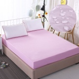 Single Size Mattress Protector 100 Waterproof Hypoallergenic Premium Fitted Cotton Terry Cover Pink Intl Shop