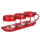 Cheap Sitbo Glass Condiment 3 Piece Set With Tray Online