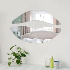 Sitting room bedroom adornment lip mirror wall stick
