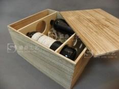 Six bottle high-grade wooden box wooden