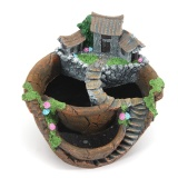 Purchase Sky Garden Planter Herb Flower Cactus Succulent Clay Pot Basket Box Case Decor Orange Intl