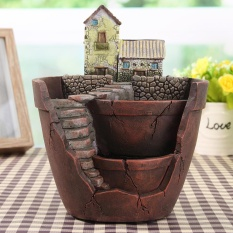 Sky Garden Planter Herb Flower Cactus Succulent Plant Resin Pot Box Container - intl
