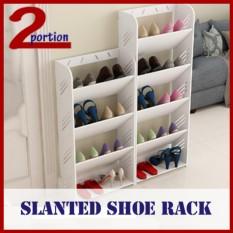 Slanted Shoe Rack - 4 Tier