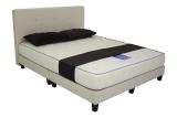 Sale Sleek Design Bedframe With 8 Inch Foam Mattress Brown Queen Online Singapore