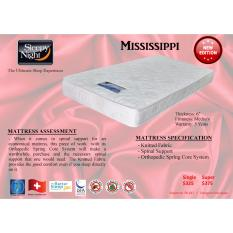 Sleepy Night Mississippi Orthopedic Spring Mattress Super Single (White)