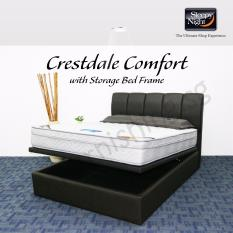 Sleepy Night (Single) Crestdale Comfort Mattress with Jacinta Storage Bedframe