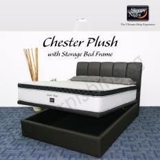 Sleepy Night (Super Single) Chester Plush Mattress with Jacinta Storage Bedframe