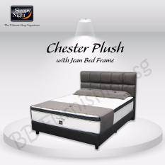 Sleepy Night (Super Single) Chester Plush Mattress with Jean Bedframe