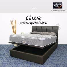 Sleepy Night (Super Single) Classic Mattress with Jacinta Storage Bedframe