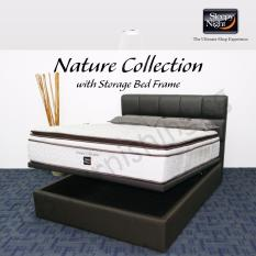 Sleepy Night (Super Single) Nature Collection Mattress with Jean Storage Bedframe