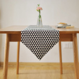 Buy Table Flag Cotton And Linen Black Nordic Simple Modern