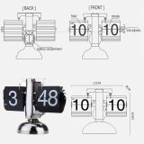 Where Can You Buy Small Scale Table Clock Retro Flip Over Clock Stainless Steel Flip Internal Gear Operated Quartz Clock Black White