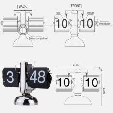Small Scale Table Clock Retro Flip Over Clock Stainless Steel Flip Internal Gear Operated Quartz Clock Black White Price Comparison