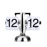 Discount Small Scale Table Clock Retro Flip Over Clock Stainless Steel Flip Internal Gear Operated Quartz Clock Black White Intl Not Specified