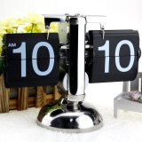 Sale Small Scale Table Clock Retro Flip Over Clock Stainless Steel Flip Internal Gear Operated Quartz Clock Black White Intl Not Specified Wholesaler