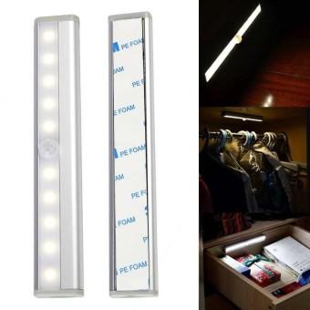 Smart Wireless Motion Sensor 10 LED Lamp Magnetic Base Emergency Light Cabinet Wardrobe Hallway Lamps 80000H LED Life