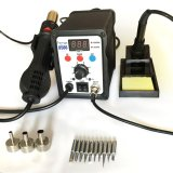 Low Price Smd 2 In 1 Soldering Iron And Hot Air Rework Station 8586 C W 10Pcs Extra Tips And 3Pcs Nozzles Intl