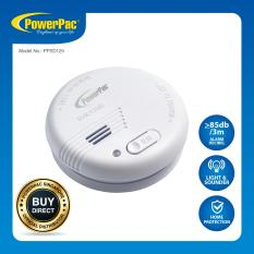 Powerpac Smoke Detector With Light And Test Button (ppsd125) By Powerpac.
