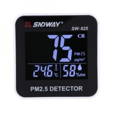 Sndway Digital Led Air Quality Monitor Pm2 5 Detector Temperature Humidity Meter Intl Oem Discount