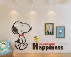 Cheapest Snoopy Cartoon Kindergarten Children S Room Living Room Decorative Wall Stickers Online