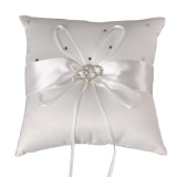 The Cheapest Snowwhite Romantic Rosette Crystal Bridal Ring Pillow Wedding Party Ornament Decoration Pillows Intl Online