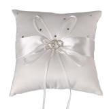 Retail Price Snowwhite Romantic Rosette Crystal Bridal Ring Pillow Wedding Party Ornament Decoration Pillows Intl