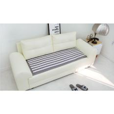 SOFA Pads Modern Style 55 x 160cm (Cotton100%) - Sofa Seat Pad Mat Cover - Style Sprite (Gray) - intl