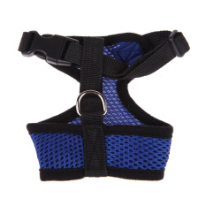 Soft Mesh Dog Harness Pet Puppy Cat Clothing Vest Blue L By Crystalawaking.