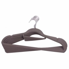 Sol Home ® Non Slip Velvet Clothes Hangers Grey X 50 Pcs By Shoponlinelah By Sol Home.