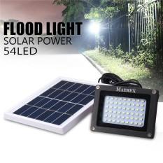 Solar 54 LED Light Sensor Flood Spot Lamp Garden Outdoor Security Waterproof - intl