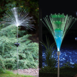Get Cheap Solar Fiber Optic Color Changing Garden Stake Light Nightlight Outdoor Lawn Lamp Bright Glowing Lighting Stick Light Home Holiday Party Decoration Intl