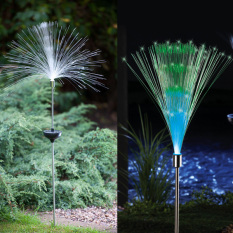 Purchase Solar Fiber Optic Color Changing Garden Stake Light Nightlight Outdoor Lawn Lamp Bright Glowing Lighting Stick Light Home Holiday Party Decoration Intl
