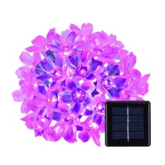 Solar Outdoor Christmas String Lights 23ft(7m) 50 LED Fairy Flower Blossom Decorative Light for Indoor Garden Patio Party Xmas Tree Decorations - intl