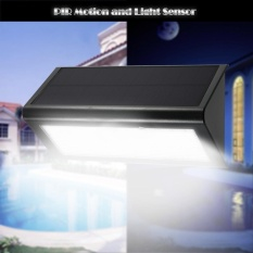 Solar Outdoor Light 48 LED 800 Lumen PIR Motion Sensor Light Waterproof and Wireless Wall Garden Yard Pathway Fence Light in Black (White) - intl