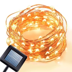 Solar Power 10M 100 Led Copper Wire Fairy Light Yellow Intl In Stock