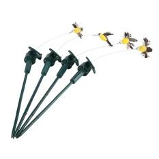Solar Power Flying Bird Hummingbird Garden Decoration(Random Color) - intl