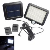Recent Solar Power Led Garden Lawn Lights Outdoor Pir Human Sensor 56 Led Solar Motion Detection Wall Light Intl