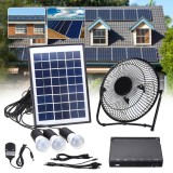 Solar Power Panel Dc Usb Charging Phone Led Fan Light Kits Home Outdoor Camping Intl Discount Code