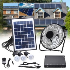Where Can You Buy Solar Power Panel Dc Usb Charging Phone Led Fan Light Kits Home Outdoor Camping Intl