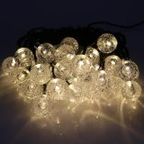 Latest Solar Powered 6M 30Leds Round Ball Fairy Starry Flashing String Lights Xmas Holiday Party Decoration Outdoor Lamps Intl