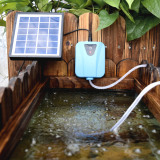 Promo Solar Powered Dc Charging Oxygenator Water Oxygen Pump Pond Aerator With 1 Air Stone Aquarium Airpump 2L Min Intl