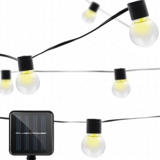 Solar Powered String Lamp 10 LEDs Transparent Ball Outdoor Light Home Yard Party Christmas Decoration - intl Singapore