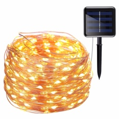 Solar Powered String Lights, 200 LED Copper Wire Lights, 72ft 8 Modes Starry Lights, Waterproof IP65 Fairy Christams Decorative Lights for Outdoor,Wedding, Homes, Party, Halloween (Warm White) - intl