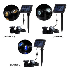 Solar Powered Super Bright 2 Underwater Lamps 12 LEDs Light Sensor Projector Light Garden Pool Pond Yard Submersible Spotlight Outdoor Landscape Lighting Use White - intl