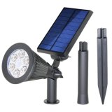 Sale Solar Spotlights Upgraded Solar Lights Outdoor Adjustable 6 Led Version 2 Modes Wall Lights Waterproof Security Landscape Lighting Automatic On Off Sensor For Yard Garden Driveway Pathway Pool Intl Online China