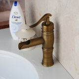 Retail Solid Brass Single Handle Contemporary Finish Basin Tap Antique Brass Mixer Bathroom Sink Faucet Tap